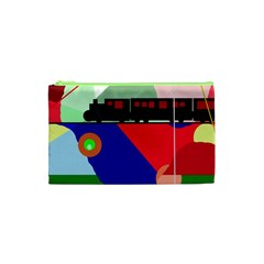 Abstract train Cosmetic Bag (XS)