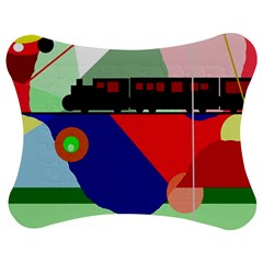 Abstract train Jigsaw Puzzle Photo Stand (Bow)