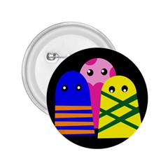 Three monsters 2.25  Buttons