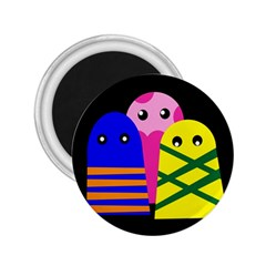 Three monsters 2.25  Magnets
