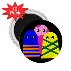 Three monsters 2.25  Magnets (10 pack)