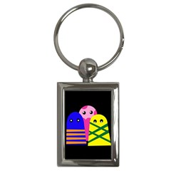 Three monsters Key Chains (Rectangle)
