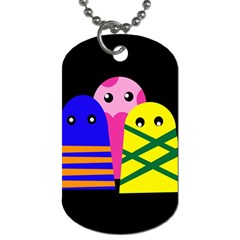 Three monsters Dog Tag (One Side)
