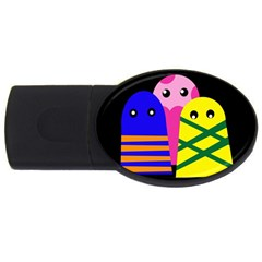 Three monsters USB Flash Drive Oval (2 GB)