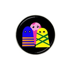 Three monsters Hat Clip Ball Marker (4 pack)