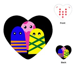 Three monsters Playing Cards (Heart)