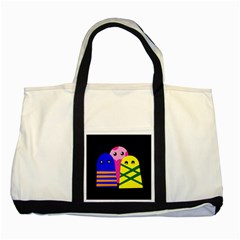 Three monsters Two Tone Tote Bag