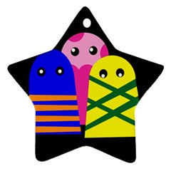 Three monsters Star Ornament (Two Sides)