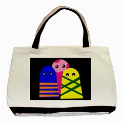 Three monsters Basic Tote Bag (Two Sides)