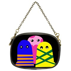 Three monsters Chain Purses (One Side)