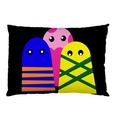 Three monsters Pillow Case
