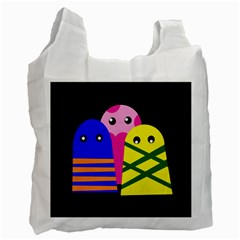 Three monsters Recycle Bag (One Side)