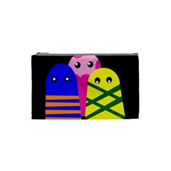 Three monsters Cosmetic Bag (Small)
