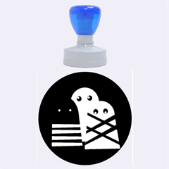 Three monsters Rubber Round Stamps (Large)