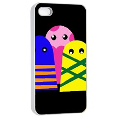 Three monsters Apple iPhone 4/4s Seamless Case (White)