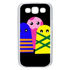 Three monsters Samsung Galaxy S III Case (White)