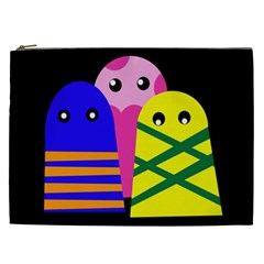 Three monsters Cosmetic Bag (XXL)