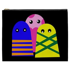 Three monsters Cosmetic Bag (XXXL)