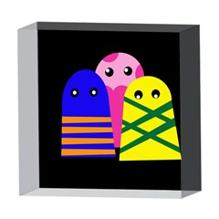 Three monsters 5  x 5  Acrylic Photo Blocks