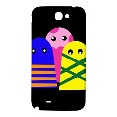 Three monsters Samsung Note 2 N7100 Hardshell Back Case