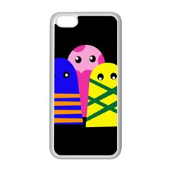 Three monsters Apple iPhone 5C Seamless Case (White)