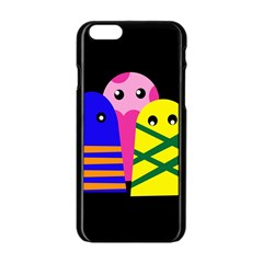 Three monsters Apple iPhone 6/6S Black Enamel Case