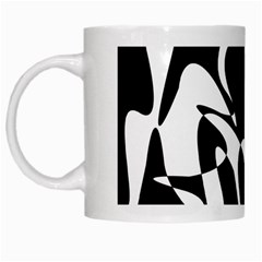 Black and white elegant pattern White Mugs