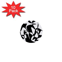 Black and white elegant pattern 1  Mini Buttons (10 pack)