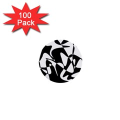 Black and white elegant pattern 1  Mini Buttons (100 pack)