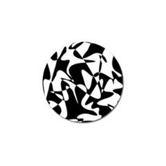 Black and white elegant pattern Golf Ball Marker