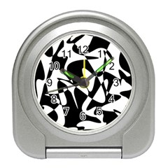 Black and white elegant pattern Travel Alarm Clocks