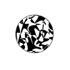 Black and white elegant pattern Hat Clip Ball Marker (10 pack)