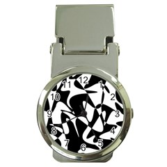 Black and white elegant pattern Money Clip Watches