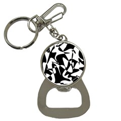 Black and white elegant pattern Bottle Opener Key Chains