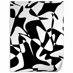 Black and white elegant pattern Canvas 36  x 48