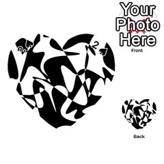 Black and white elegant pattern Playing Cards 54 (Heart)