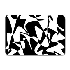 Black and white elegant pattern Small Doormat