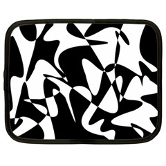 Black and white elegant pattern Netbook Case (Large)