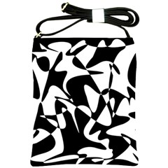 Black and white elegant pattern Shoulder Sling Bags