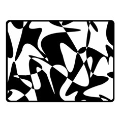 Black and white elegant pattern Fleece Blanket (Small)