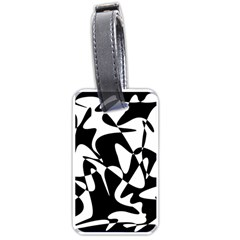 Black and white elegant pattern Luggage Tags (One Side)