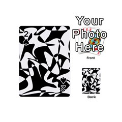 Black and white elegant pattern Playing Cards 54 (Mini)