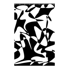 Black and white elegant pattern Shower Curtain 48  x 72  (Small)