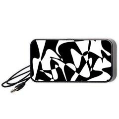 Black and white elegant pattern Portable Speaker (Black)