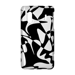 Black and white elegant pattern HTC Evo Design 4G/ Hero S Hardshell Case