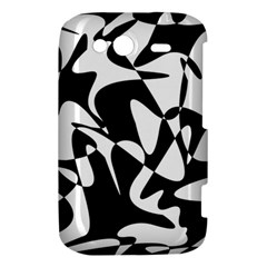 Black and white elegant pattern HTC Wildfire S A510e Hardshell Case