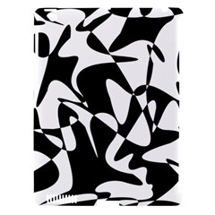 Black and white elegant pattern Apple iPad 3/4 Hardshell Case (Compatible with Smart Cover)