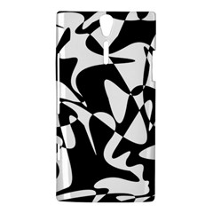 Black and white elegant pattern Sony Xperia S