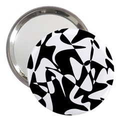 Black and white elegant pattern 3  Handbag Mirrors