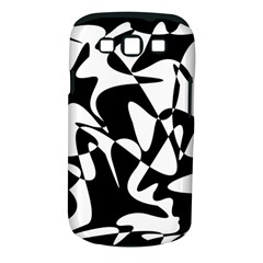 Black and white elegant pattern Samsung Galaxy S III Classic Hardshell Case (PC+Silicone)